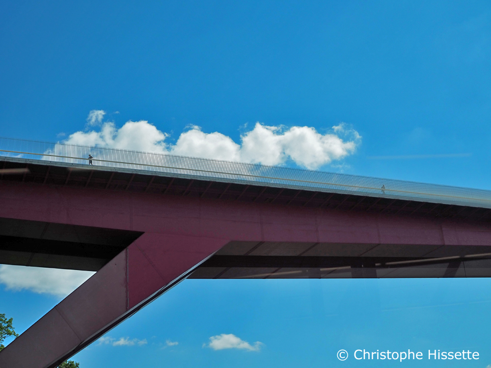 Grand Duchess Charlotte Bridge, Kirchberg, Luxembourg City