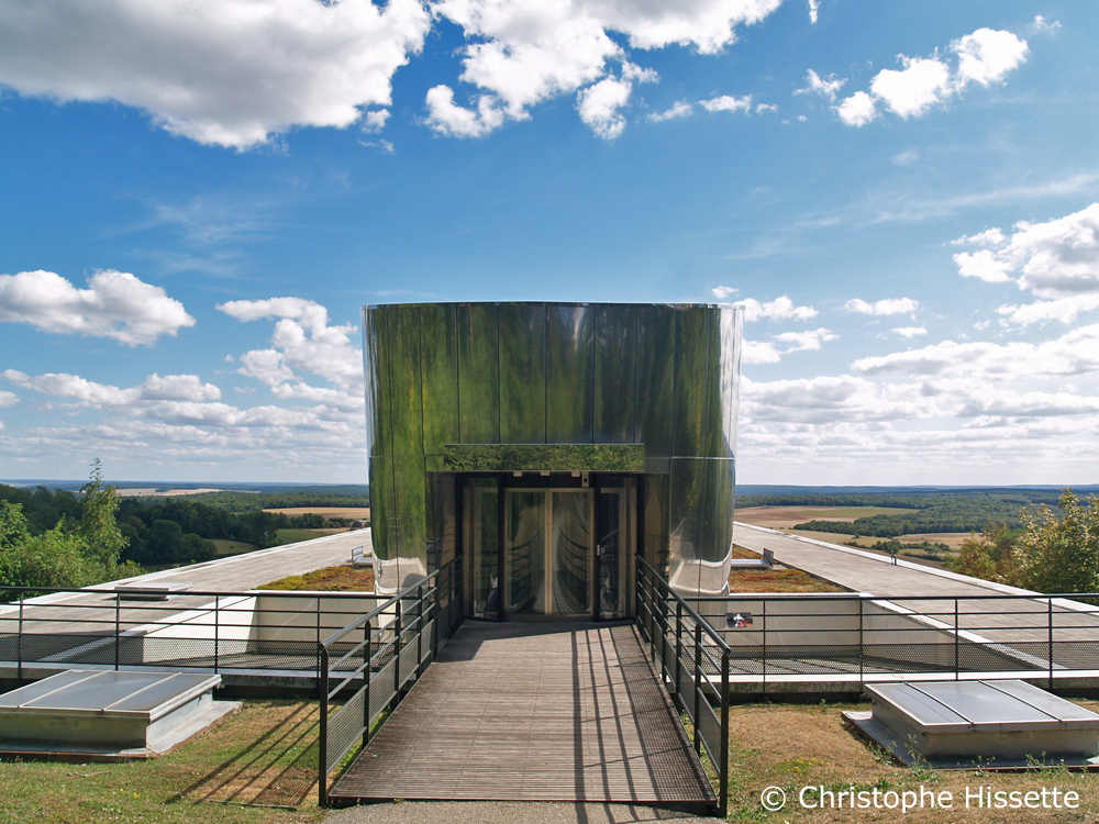 Panoramic elevator of the Charles de Gaulle Memorial - Architects Jacques Millet and Jean-Côme Chilou, Colombey-les-Deux-Églises, France