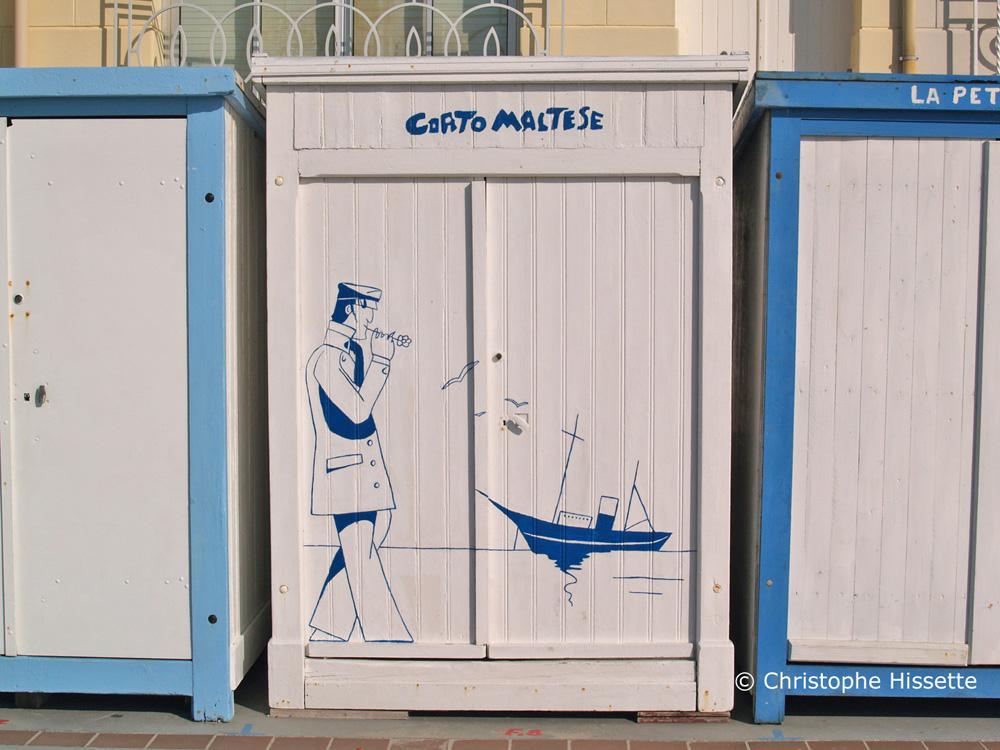 Cabine de Plage Corto Maltese à Wimereux Côte d'Opale France