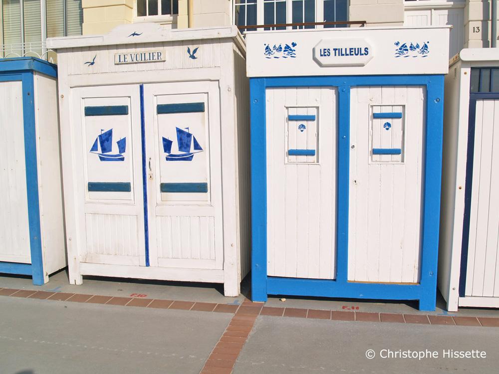 Cabines de plage à Wimereux Côte d'Opale France