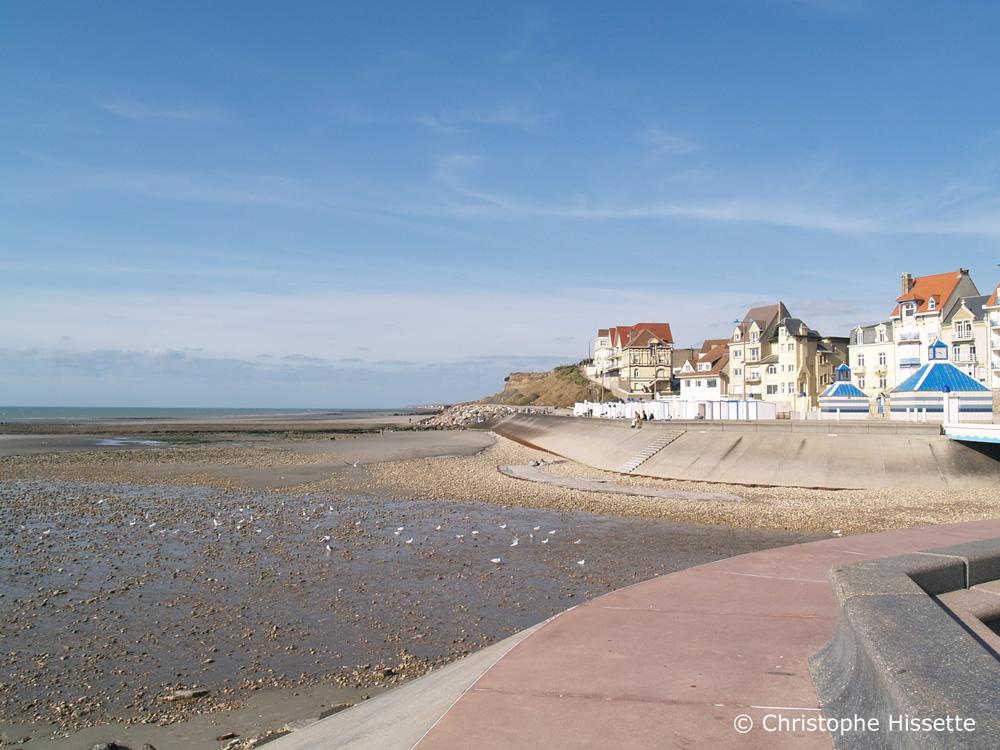 Wimereux à marée basse Côte d'Opale France