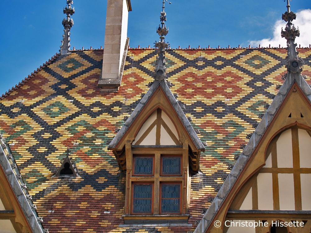 Glazed tile roof, Hospices de Beaune