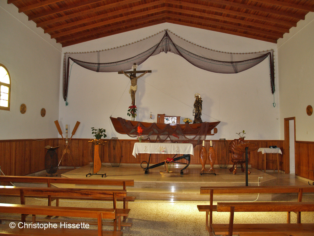 Intérieur de l'Eglise de Nuestra Señora del Carmen, Caleta de Sebo, La Graciosa
