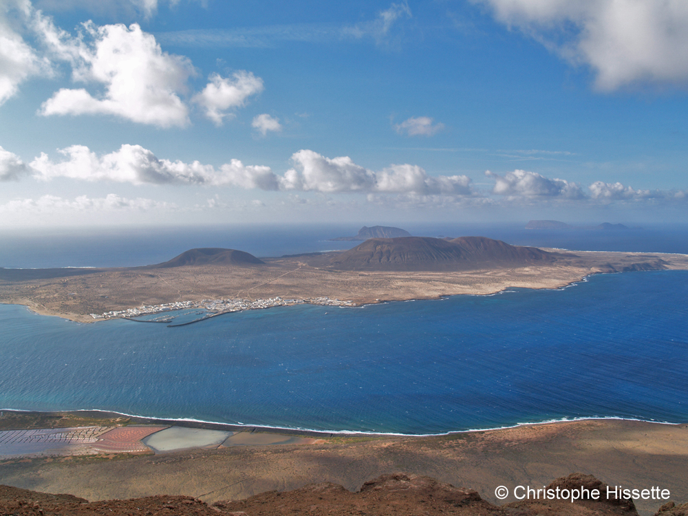 Mirador del rio, view on La Graciosa and the Chinijos, Lanzarote