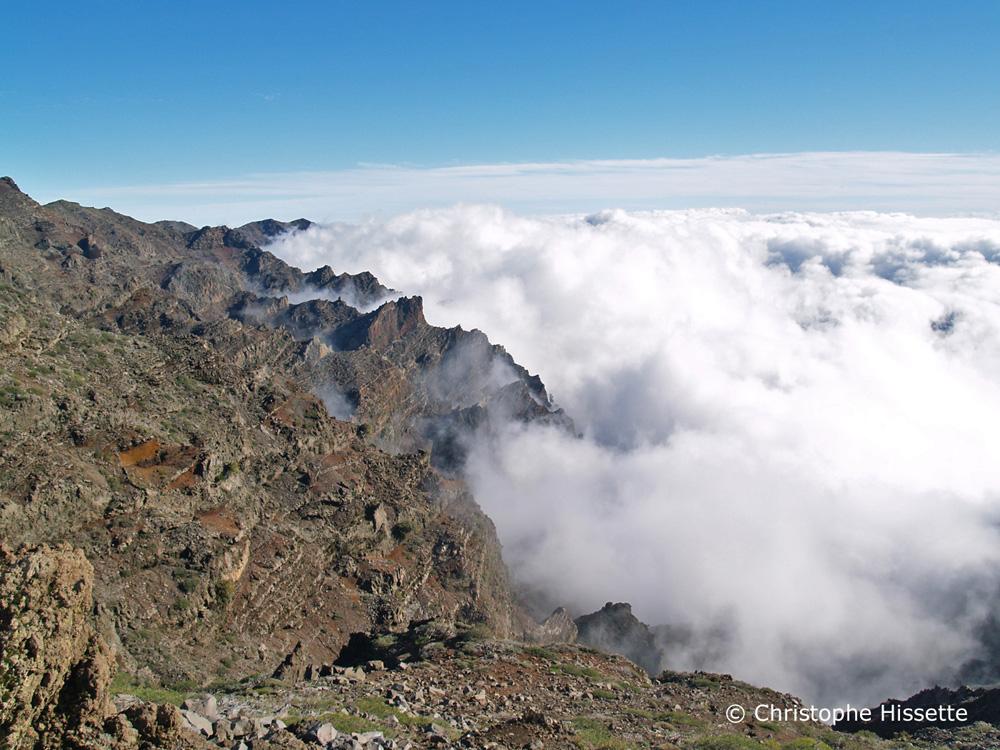 Sea of clouds at Mirador de los Andenes, Caldera de Taburiente National Park, La Palma