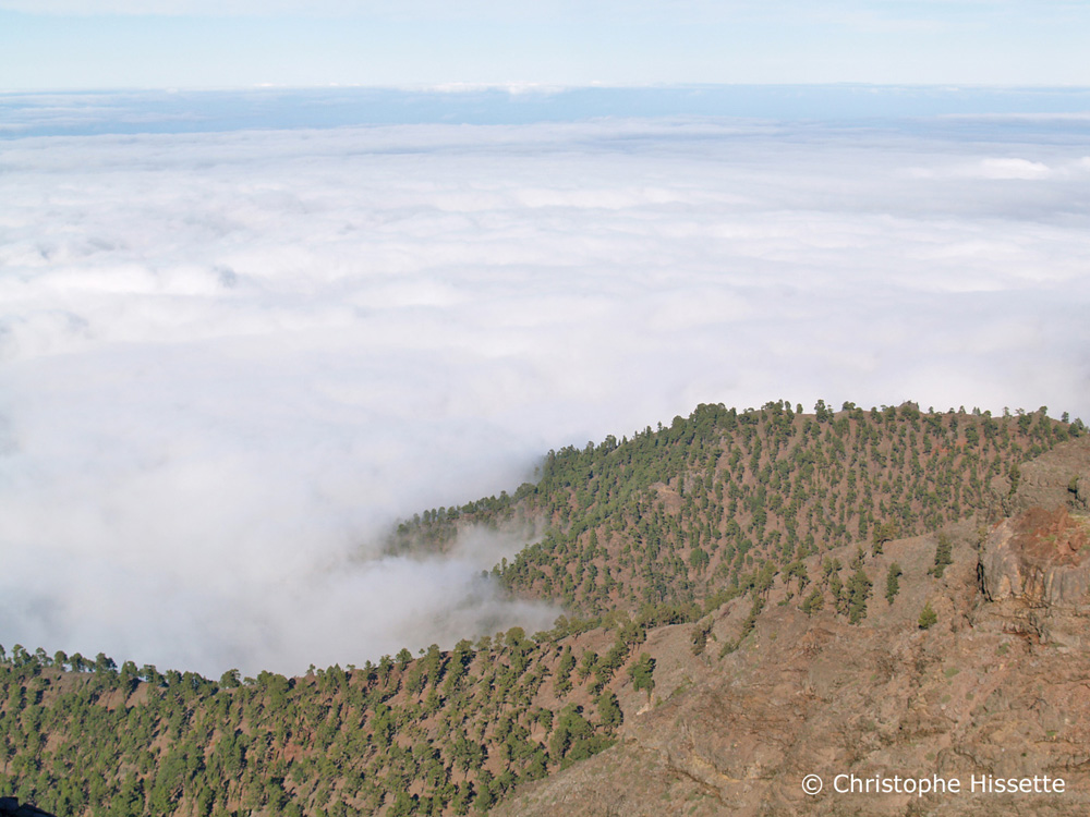 Sea ​​of ​​clouds, Caldera de Taburiente National Park, La Palma