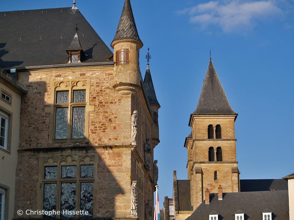 Denzelt et Basilique Saint-Willibrord, Echternach, Luxembourg