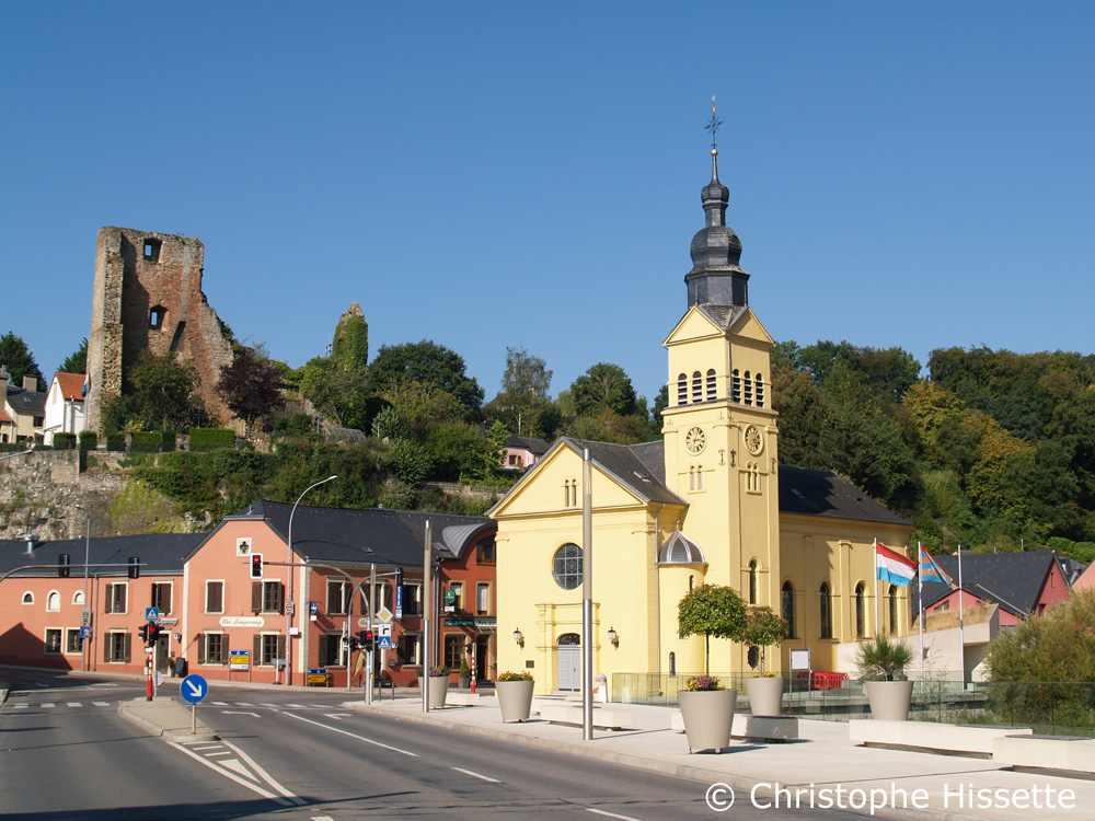 Castle and Church, Hesperange, Luxembourg