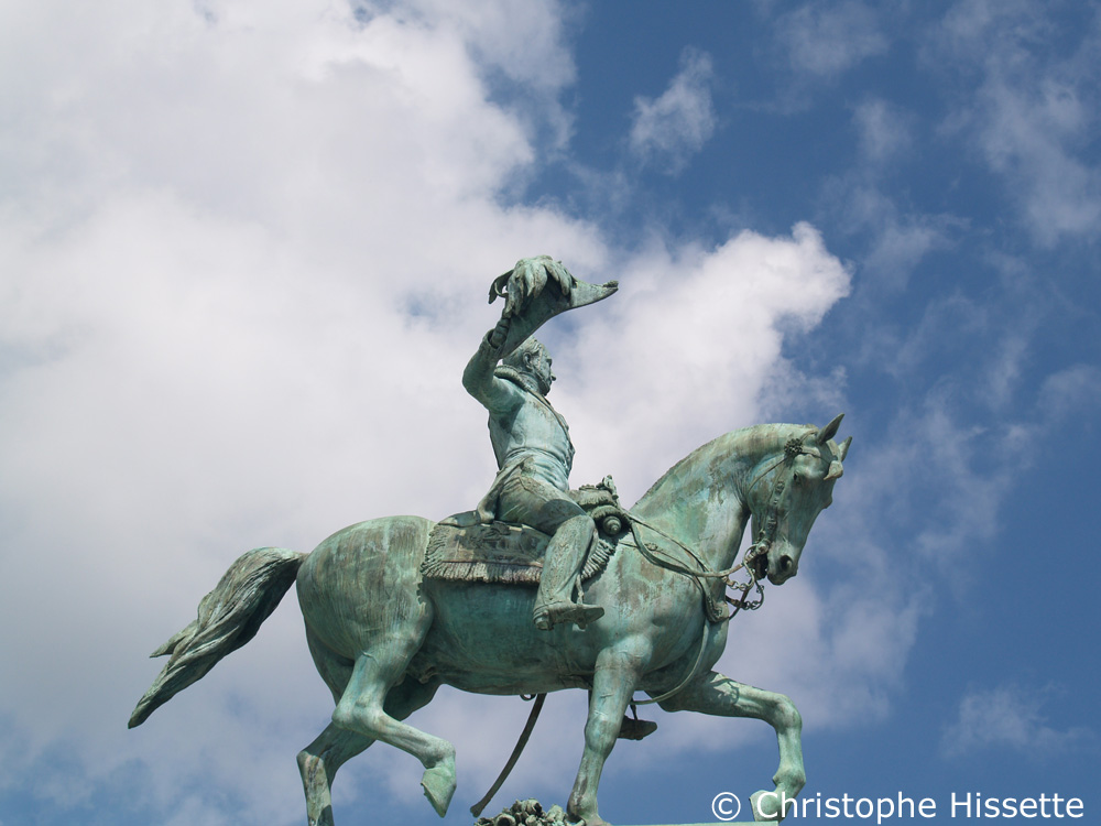 The equestrian statue of Grand Duke William II, Place Guillaume II, Luxembourg City