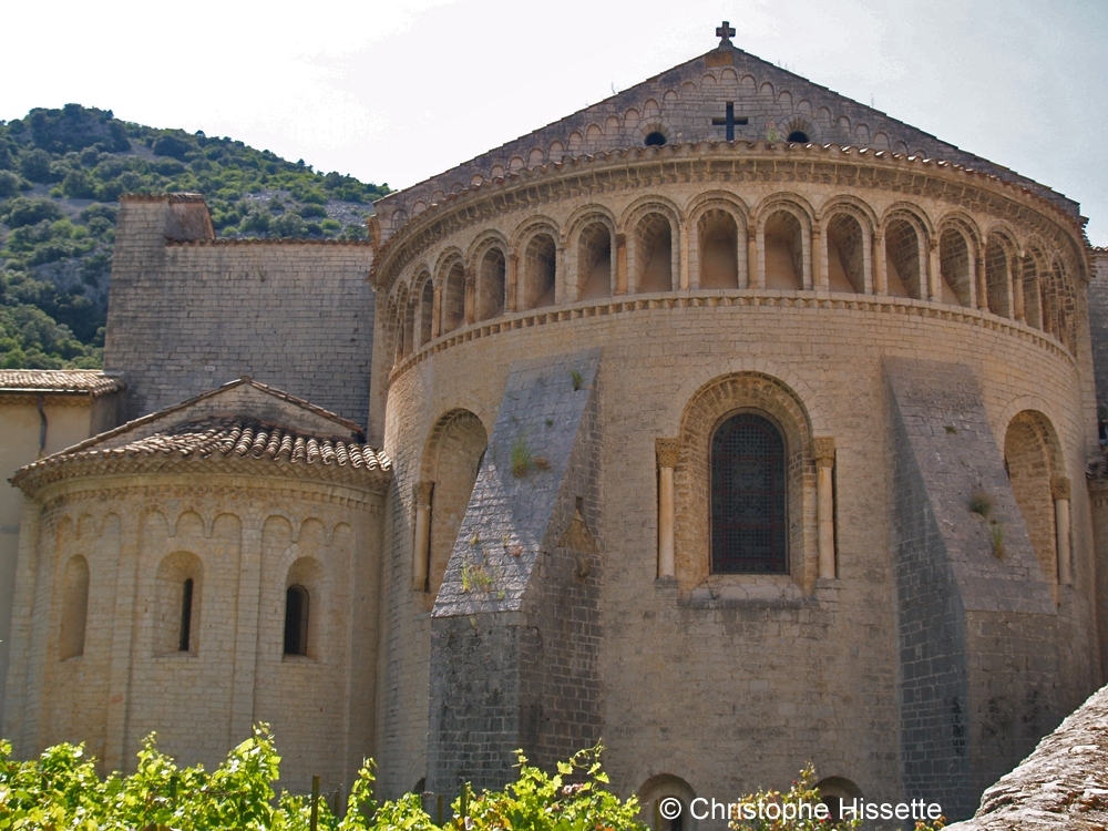 Apse of the Abbey of Gellone (UNESCO World Heritage - Camino de Santiago), Saint-Guilhem-le-Désert, France