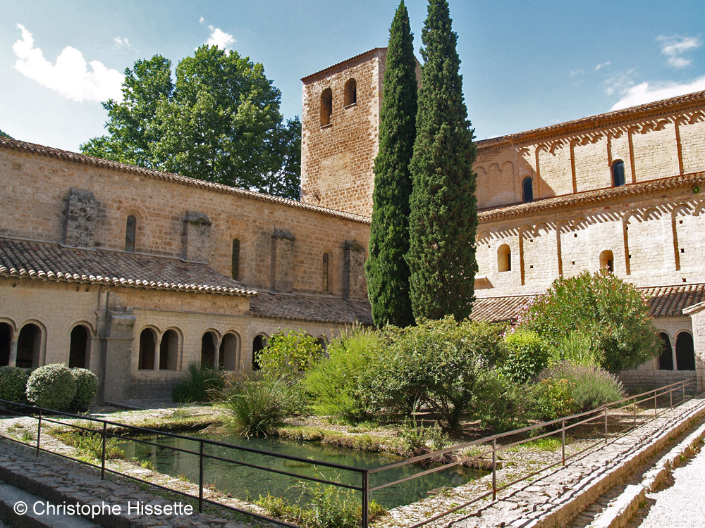 Cloister of the Abbey of Gellone (UNESCO World Heritage - Camino de Santiago), Saint-Guilhem-le-Désert, France