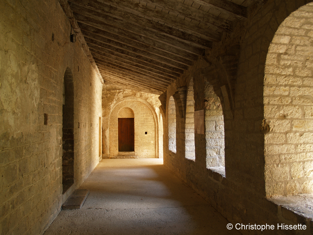 Galery of the Abbey of Gellone (UNESCO World Heritage - Camino de Santiago), Saint-Guilhem-le-Désert, France