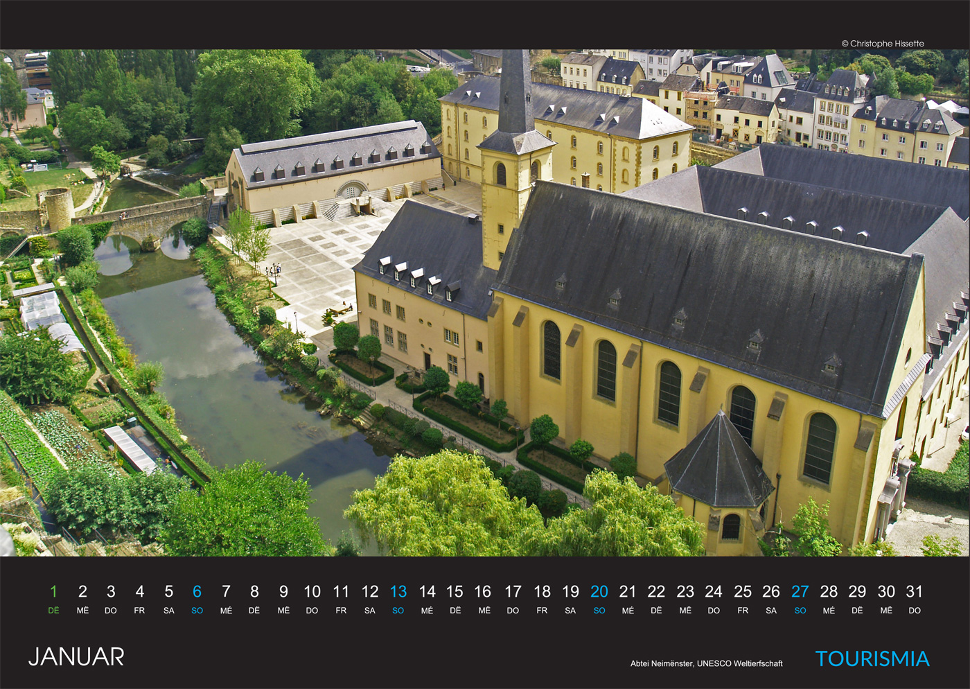 Photo Calendar Luxembourg City 2019