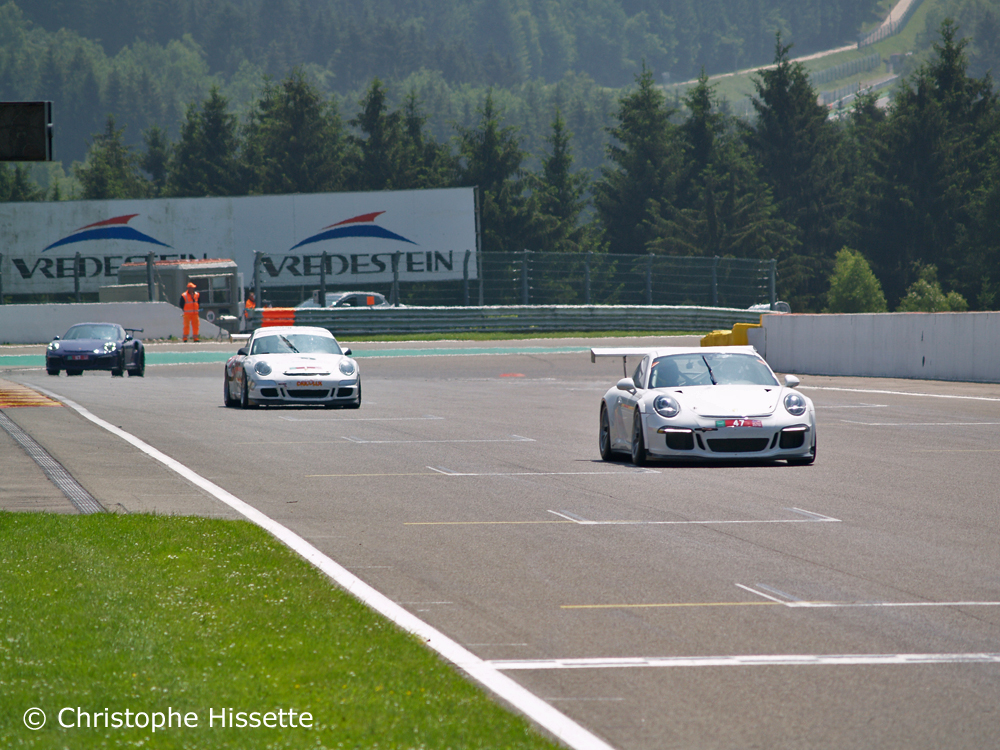 Porsche at the straight line