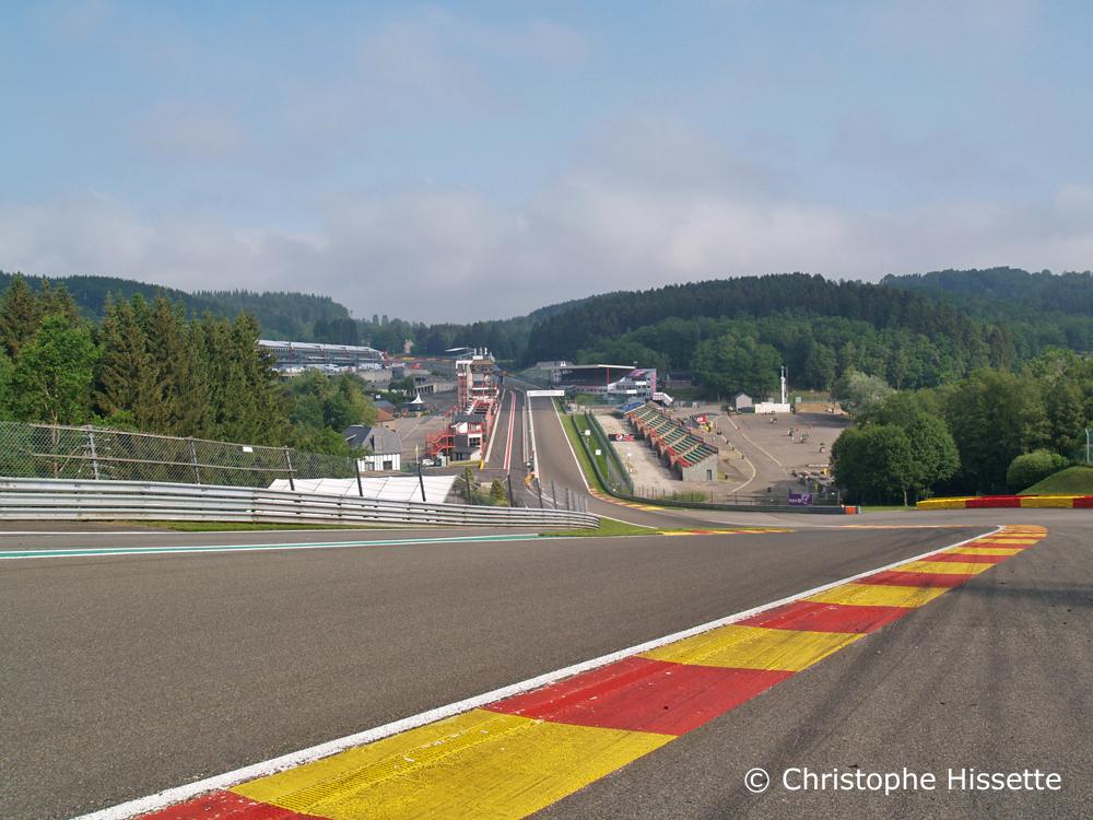 Raidillon / Eau Rouge corner of the Spa-Francorchamps Circuit (Belgium)