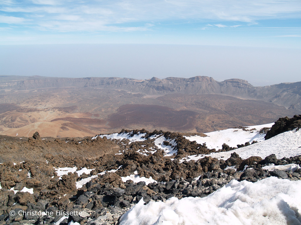 Snow, lava and volcanoes, Teide National Park, Tenerife