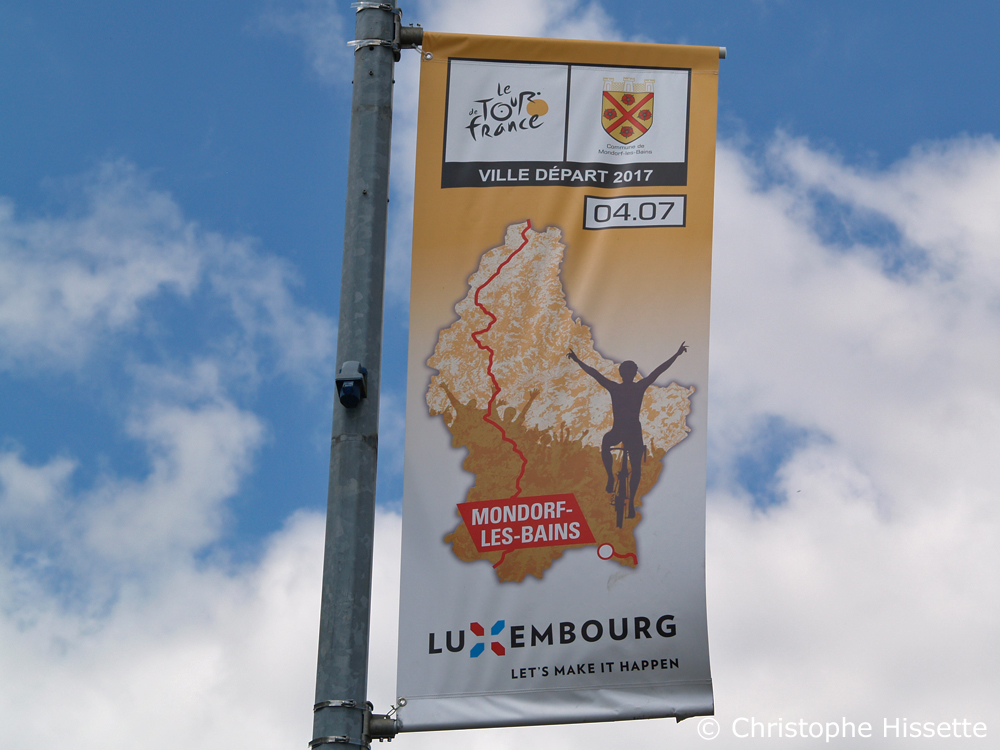 Banner - Stage Departure of the Tour de France 2017 in Mondorf-les-Bains (Luxembourg)