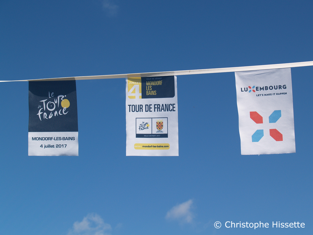 Banners - Stage Departure of the Tour de France 2017 in Mondorf-les-Bains (Luxembourg)