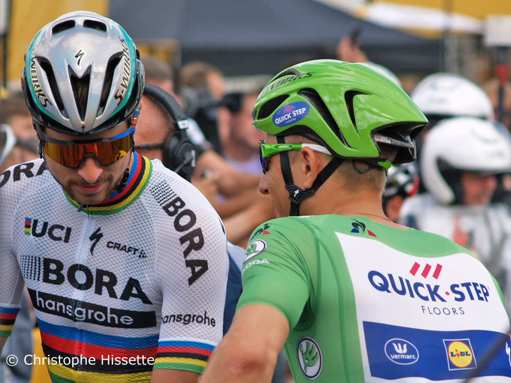 Peter Sagan and Marcel Kittel - Stage Departure of the Tour de France 2017 in Mondorf-les-Bains (Luxembourg)