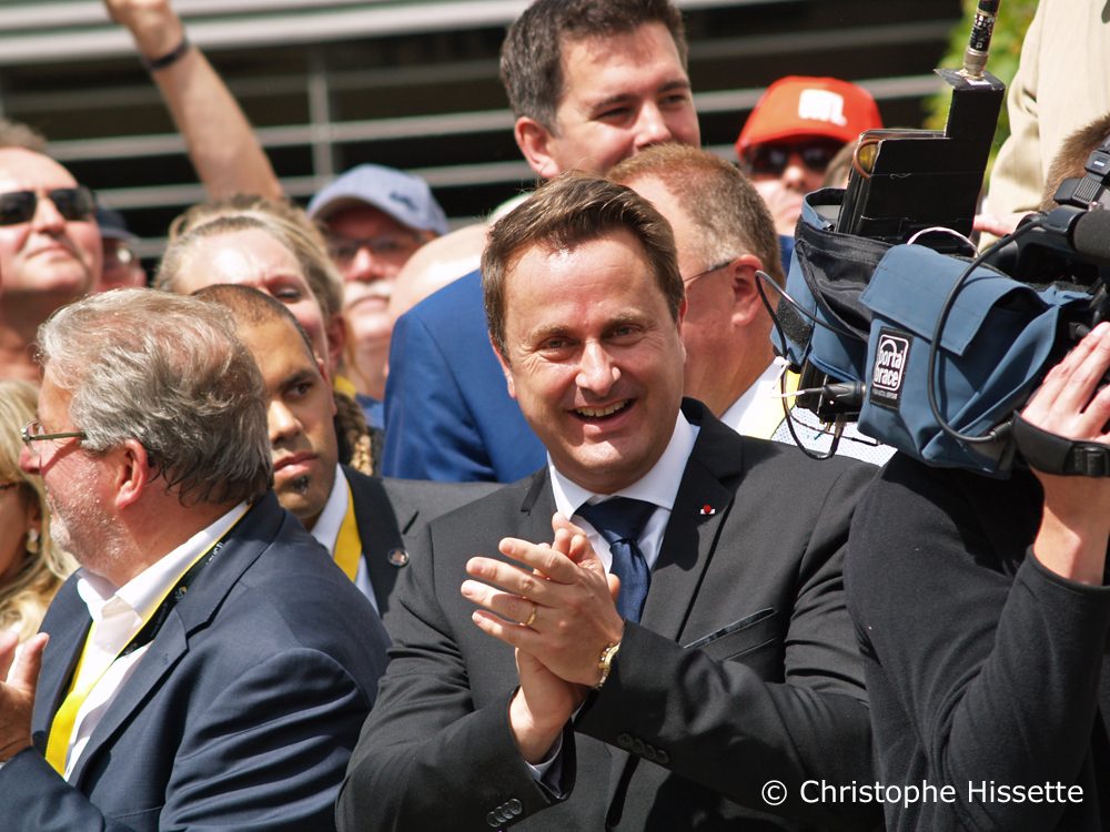 The Prime Minister Xavier Bettel - Stage Departure of the Tour de France 2017 in Mondorf-les-Bains (Luxembourg)